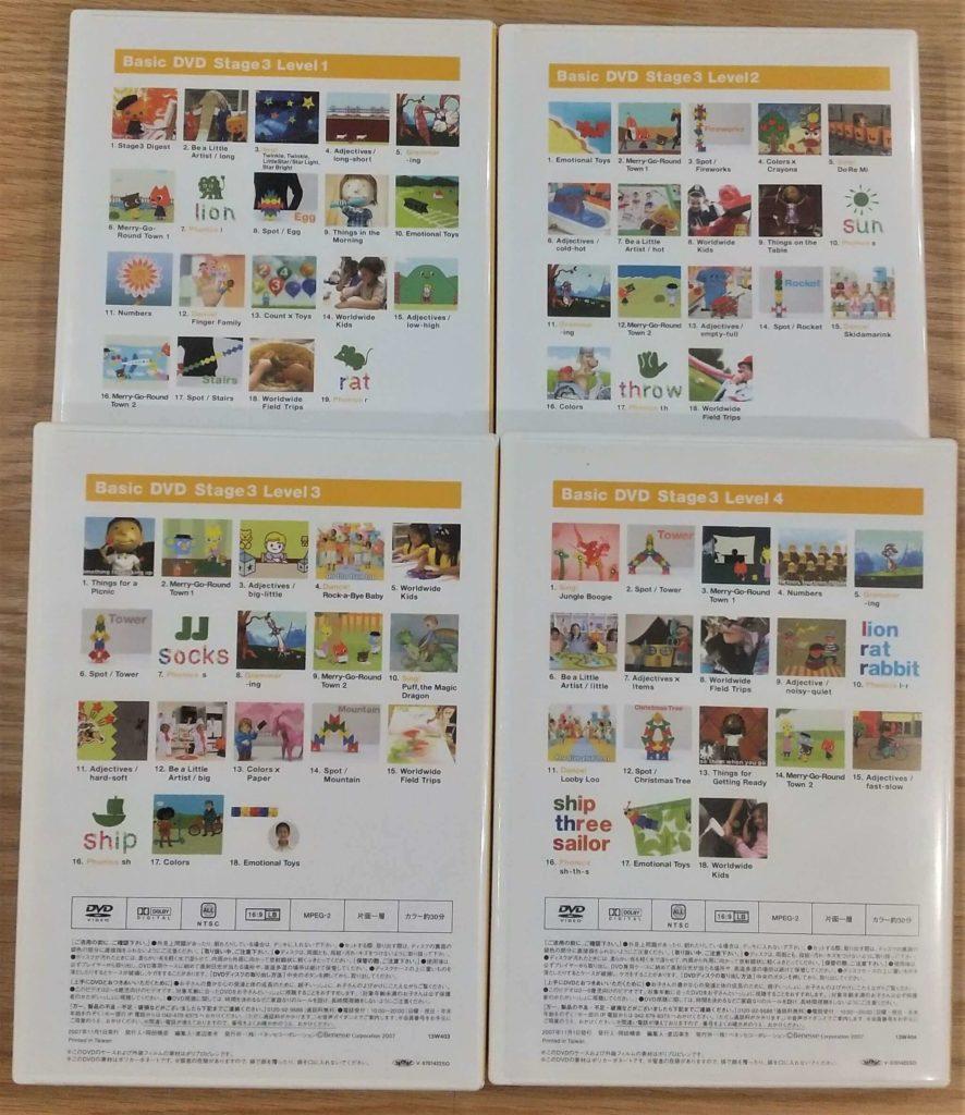Basic DVDs 11-14裏